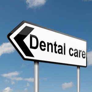 dental care sign post