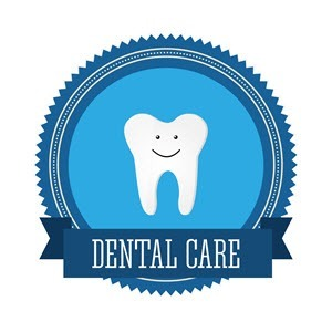 blue dental care image with a white tooth