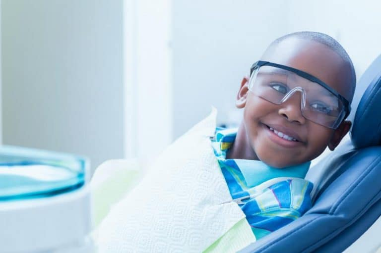 Young child waiting for dental care