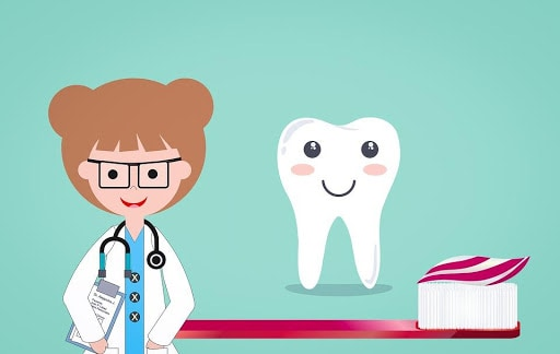 Cartoon image of tooth and dentist