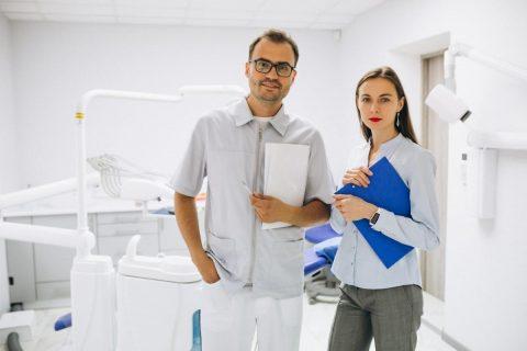 Dentist posing for camera