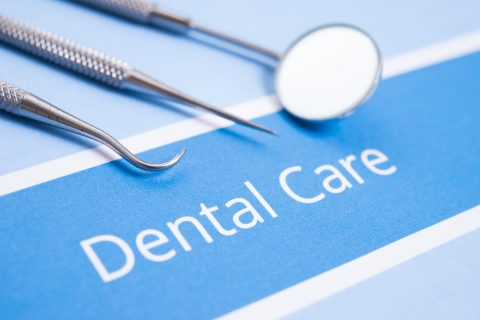 Dental Care Sign andTools